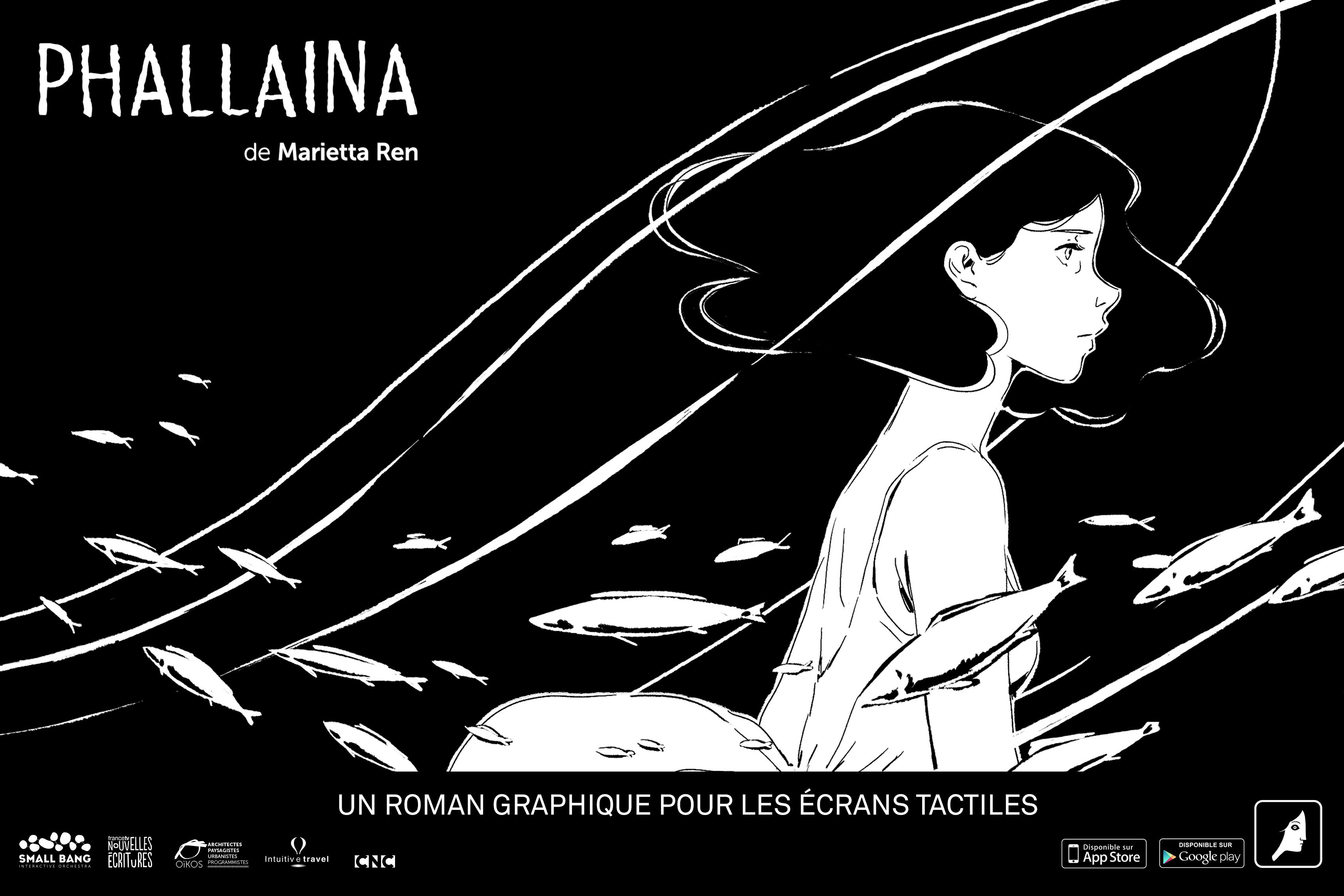 """""""Phallaina"""" by Marietta Ren a new digital graphic novel winner of the Prix du Livre enrichi francophone pour la Jeunesse"""